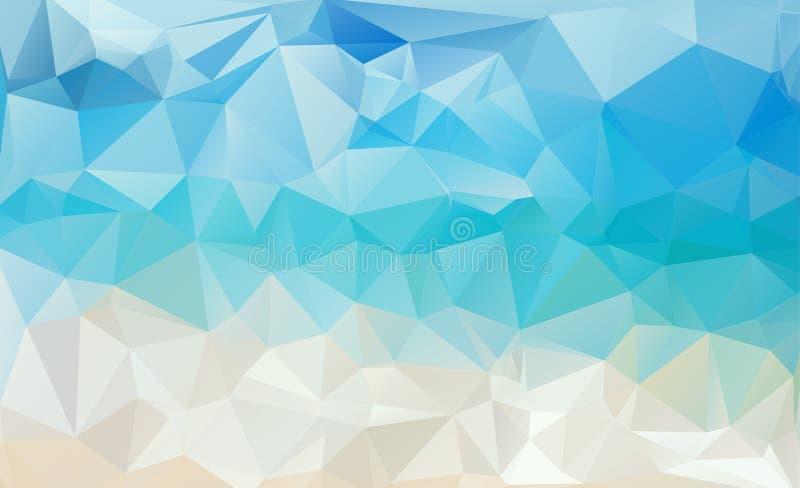 Modèle triangulaire de l'eau abstraite abstraite illustration de vecteur
