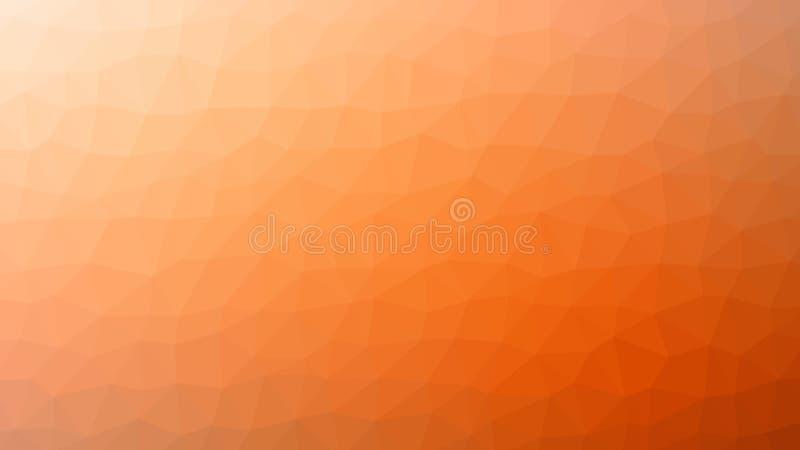 Modèle triangulaire orange à la mode de vecteur abstrait Format polygonal moderne du fond HD illustration de vecteur