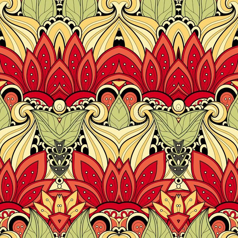 Download Modèle Tribal Abstrait Sans Couture (vecteur) Illustration de Vecteur - Illustration du floral, arabesque: 56480222