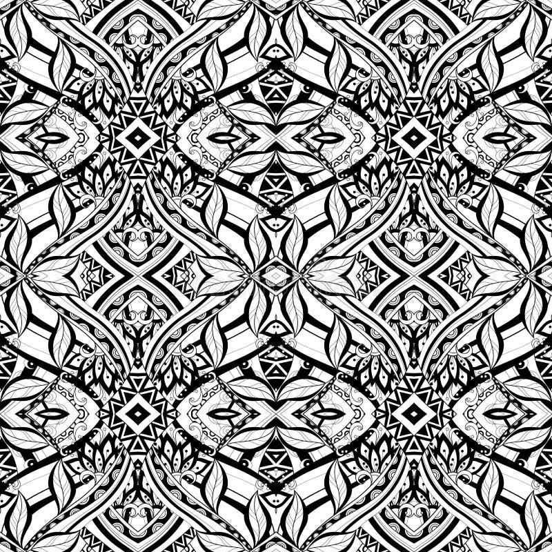 Download Modèle Tribal Abstrait Sans Couture (vecteur) Illustration de Vecteur - Illustration du lacet, griffonnage: 56480550