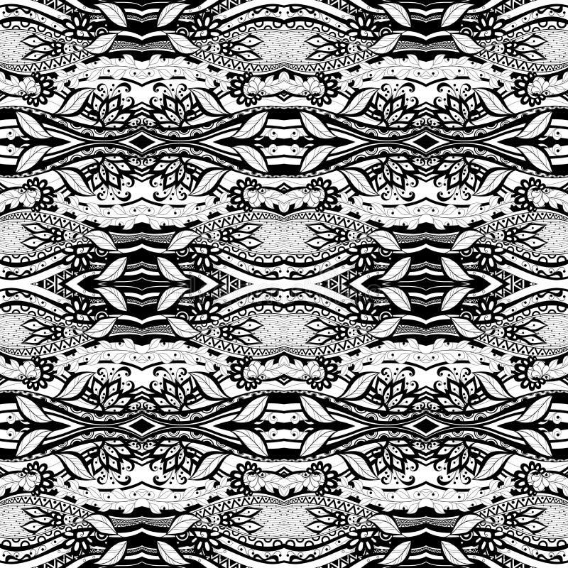 Download Modèle Tribal Abstrait Sans Couture (vecteur) Illustration de Vecteur - Illustration du fond, fleur: 56480668