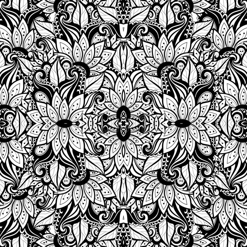 Download Modèle Tribal Abstrait Sans Couture (vecteur) Illustration de Vecteur - Illustration du éléments, floral: 56481548
