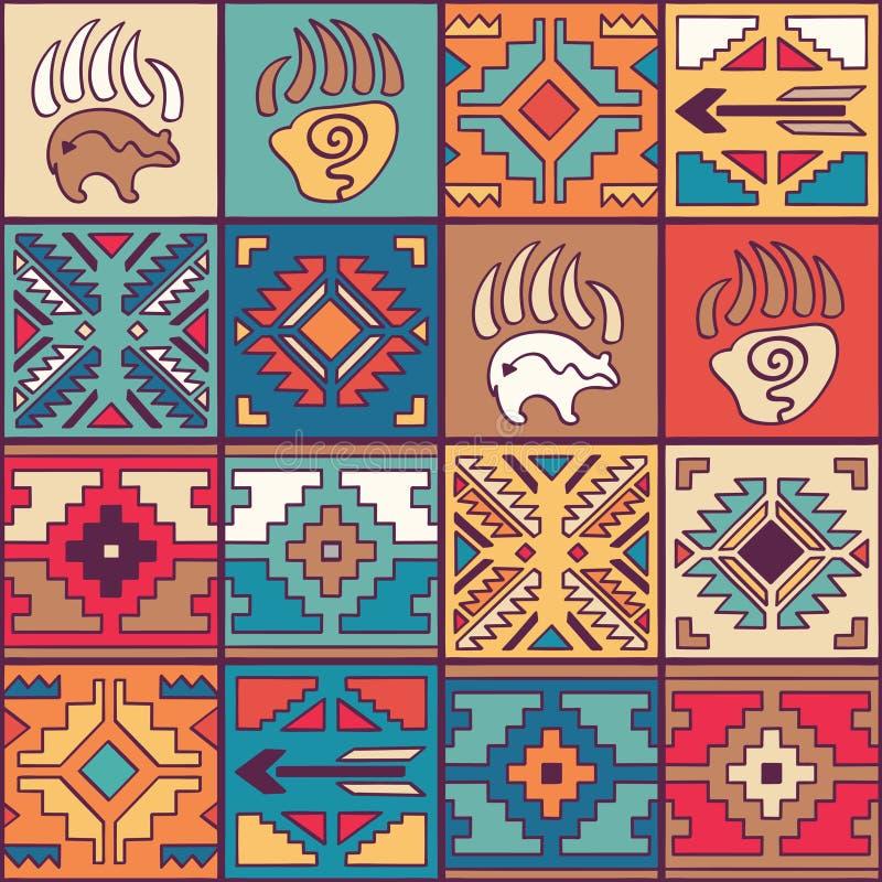 Modèle tribal coloré sans couture de Navajo illustration libre de droits