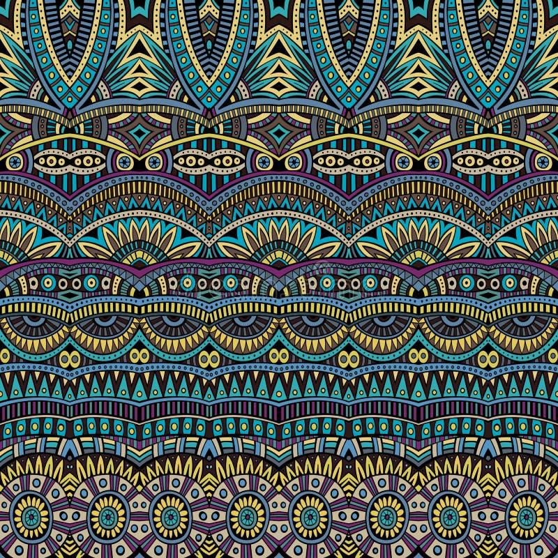 Modèle tribal d'origine ethnique de vecteur abstrait illustration libre de droits