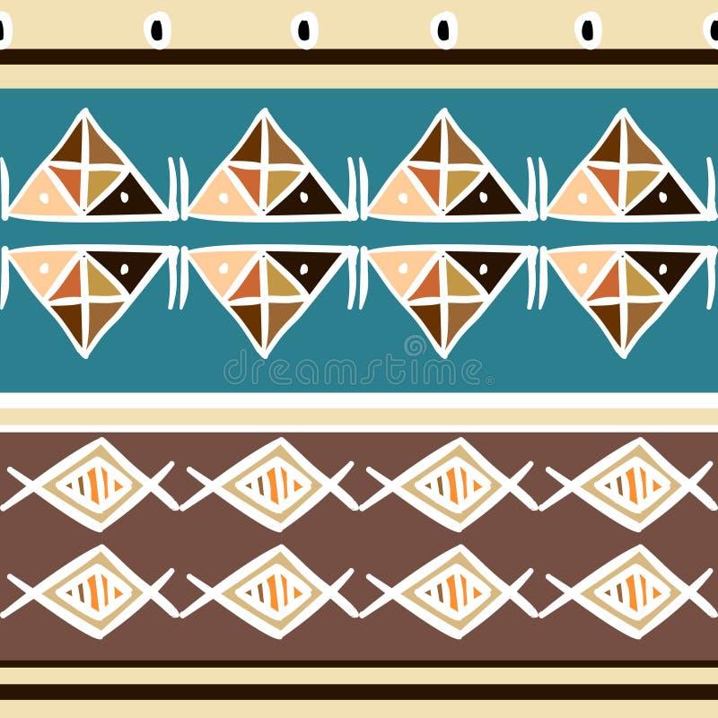 Modèle tribal de vecteur avec l'origine ethnique africaine de couleurs en pastel Bon pour votre emballage et copie de mode de tex illustration stock