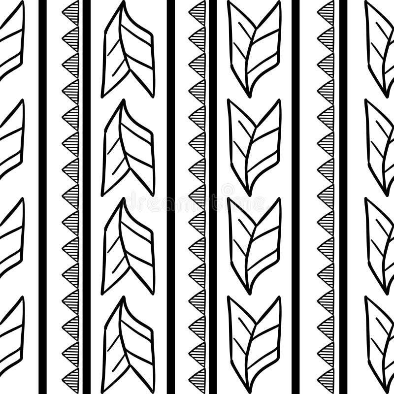 Modèle tribal de vecteur avec le dessin africain sans couture illustration de vecteur
