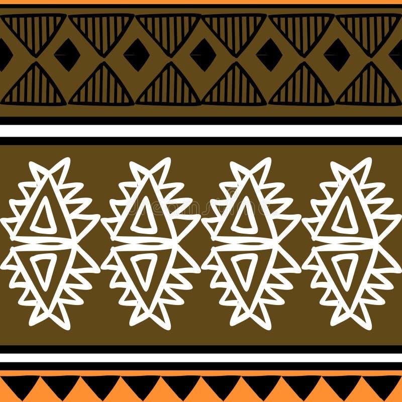 Mod?le tribal de vecteur avec le style africain tir? par la main de r?sum? d'or Bon pour votre emballage et copie de mode de text illustration de vecteur