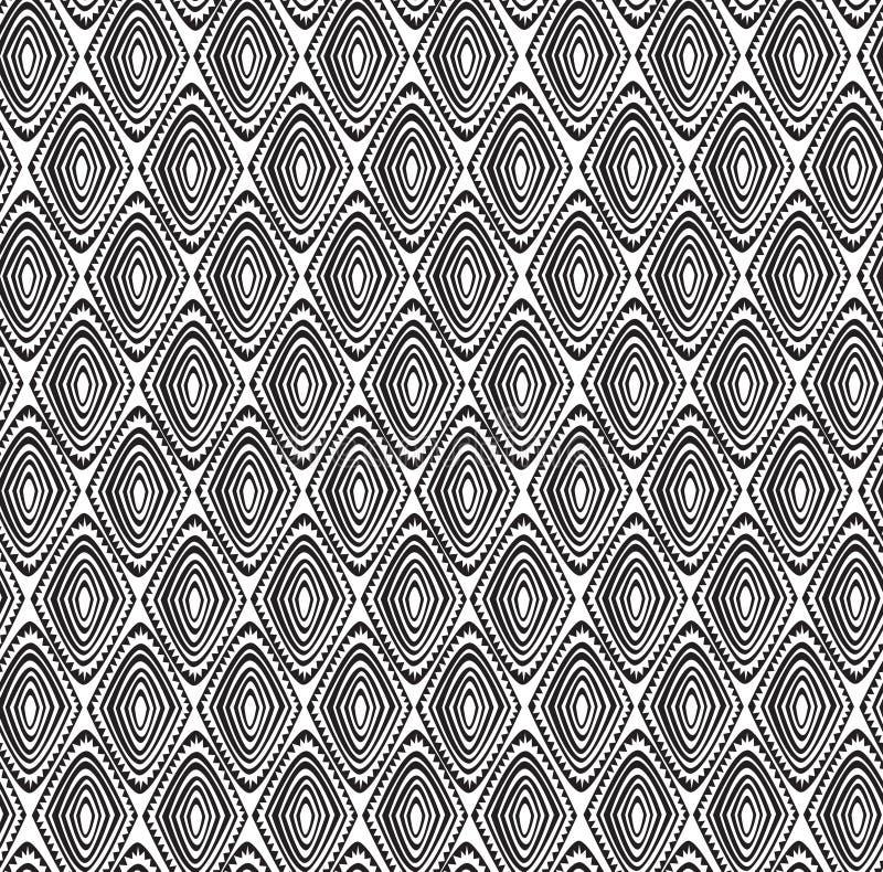 Modèle tribal sans couture avec un motif de diamant d'une tribu africaine illustration de vecteur