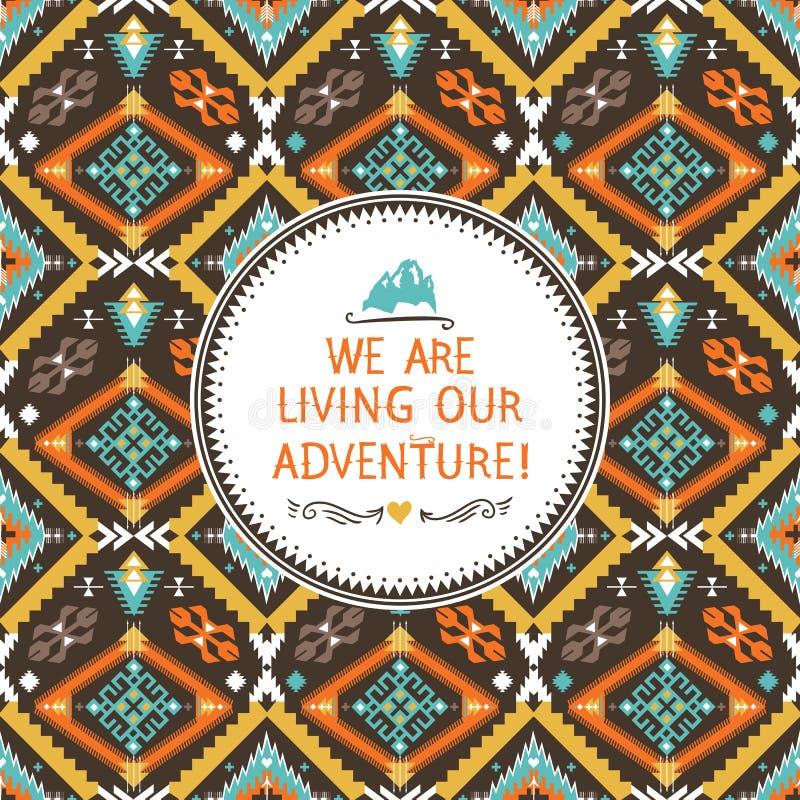 Modèle tribal sans couture de hippie avec géométrique illustration libre de droits
