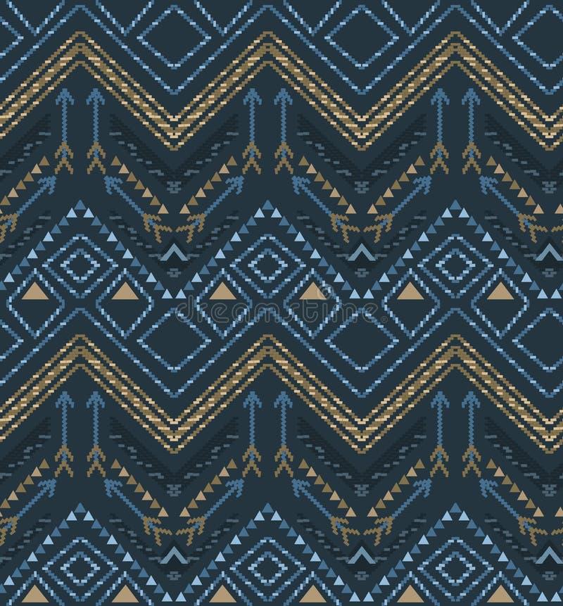 Modèle tribal sans couture ethnique de boho de vecteur illustration de vecteur