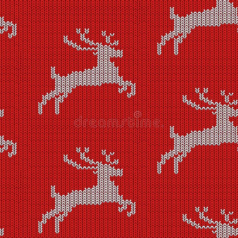 Modèle tricoté de cerfs communs image libre de droits