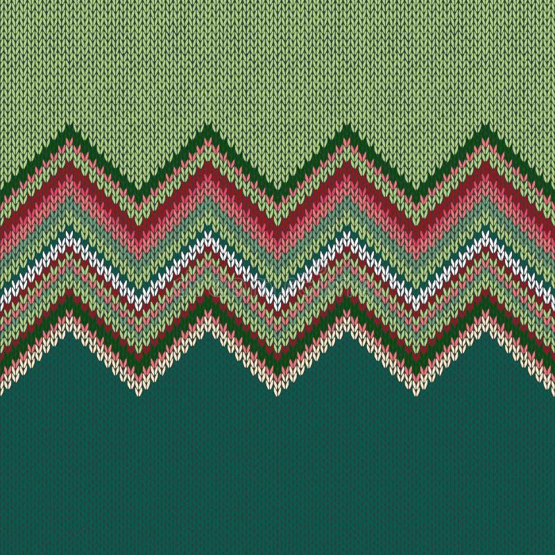 Modèle tricoté géométrique ethnique sans couture illustration libre de droits