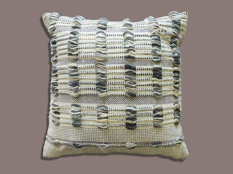 Modèle tricoté par coussin décoratif images libres de droits