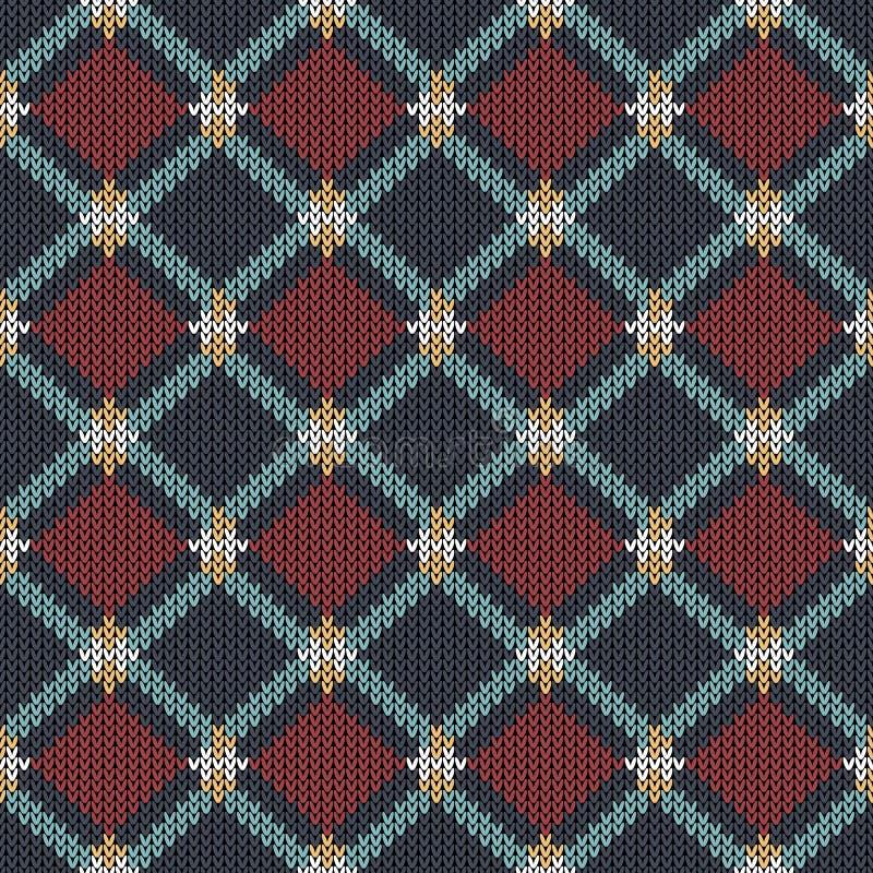 Modèle tricoté par résumé géométrique Tapotement sans couture ethnique abstrait illustration stock