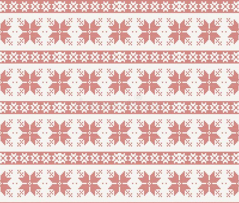 Modèle tricoté sans couture avec l'ornement de Noël illustration de vecteur