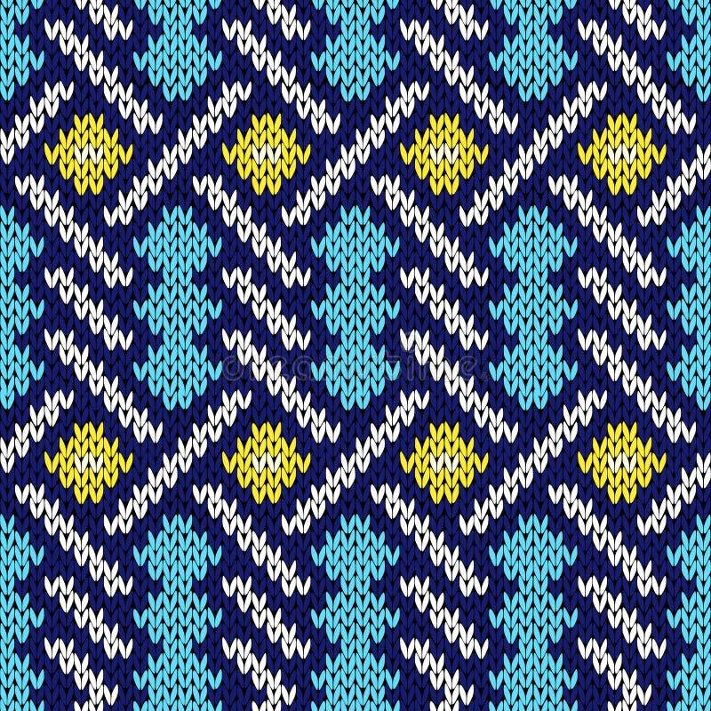 Modèle tricoté sans couture avec les lignes s'entrelaçantes illustration libre de droits