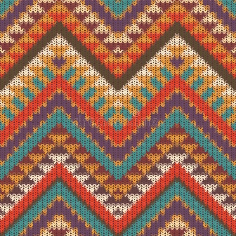 Modèle tricoté sans couture de Navajo illustration de vecteur