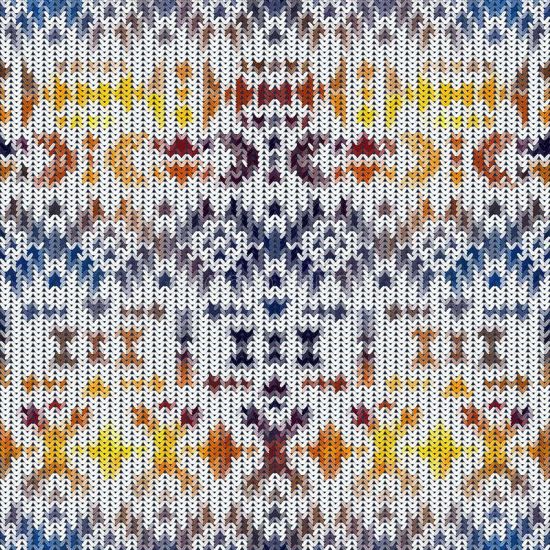Modèle tricoté sans couture de Navajo illustration stock