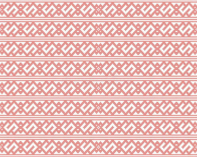 Modèle tricoté sans couture de vecteur illustration de vecteur