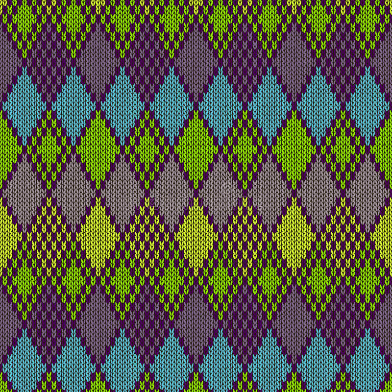 Modèle tricoté sans couture ethnique illustration libre de droits