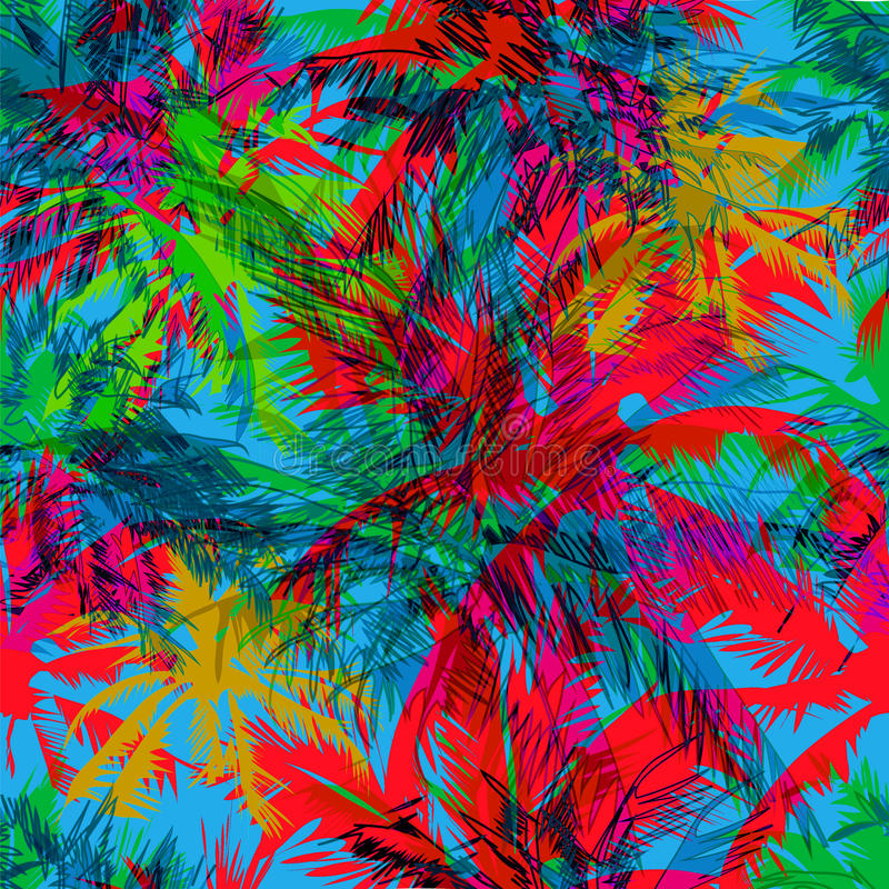Modèle tropical 36 illustration stock