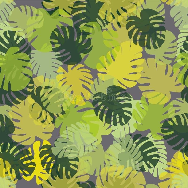 Mod le tropical avec des feuilles de monstera un fond - Imprimer photo sur tissu ...