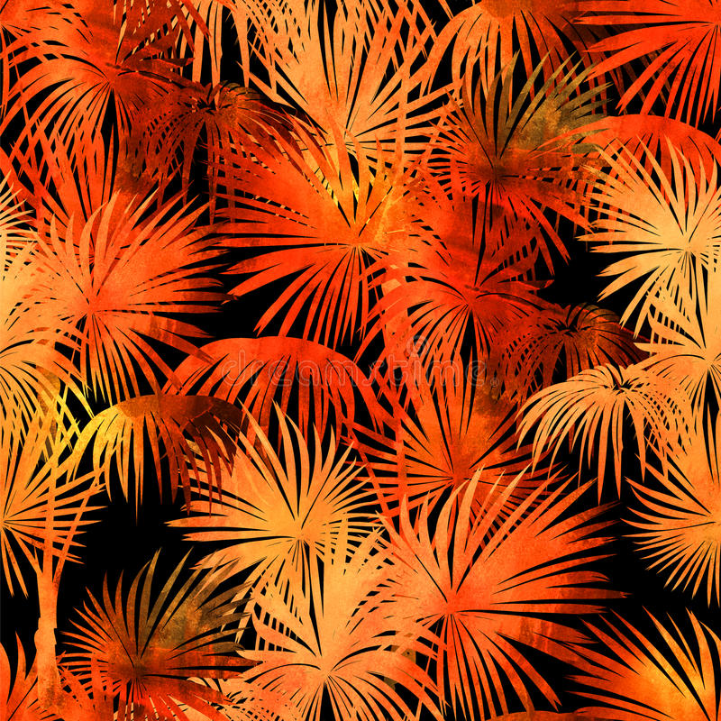Modèle tropical d'aquarelle illustration stock