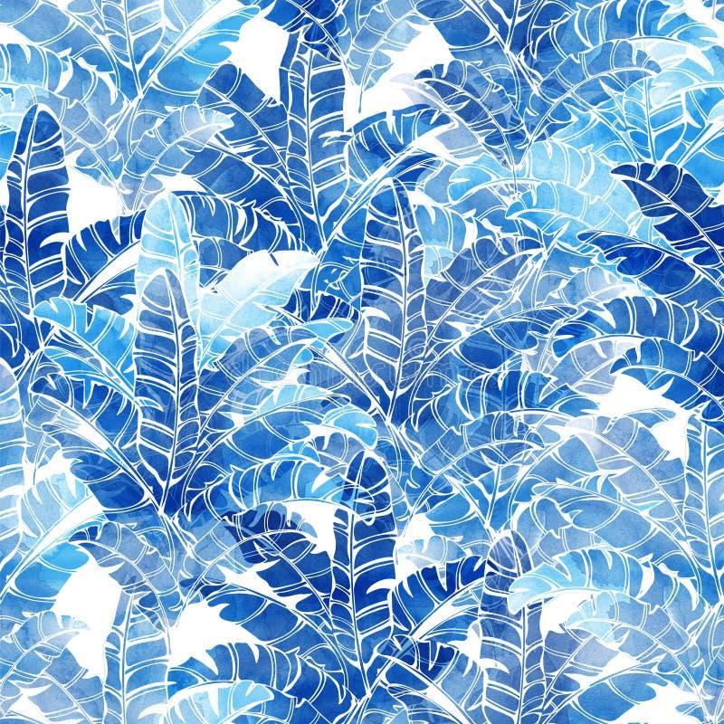 Modèle tropical d'aquarelle illustration libre de droits