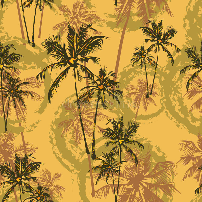 Modèle tropical de paumes illustration libre de droits