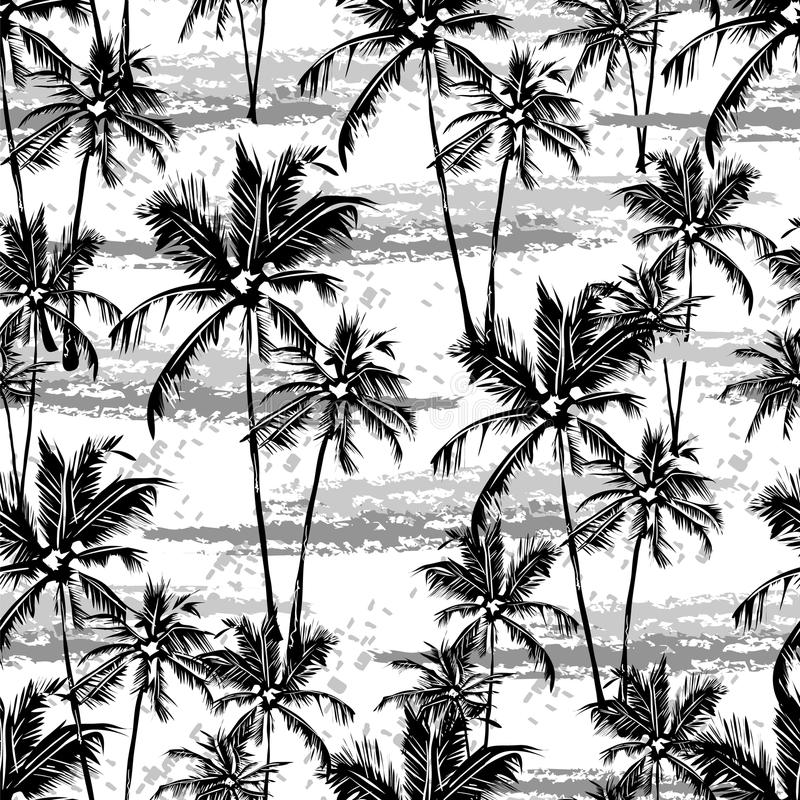 Modèle tropical de vecteur illustration libre de droits