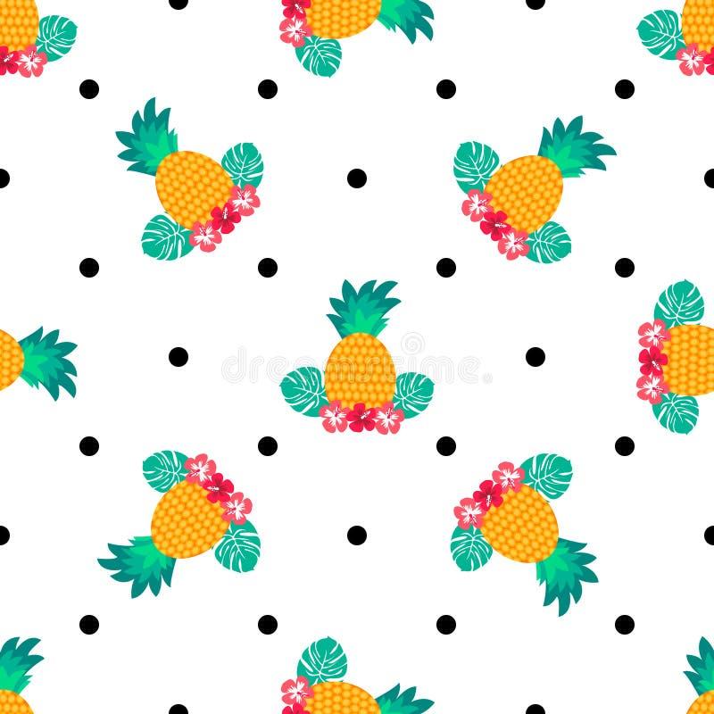 Modèle tropical sans couture avec des ananas Peut être employé pour le textile, bâche, tissu, l'emballage illustration libre de droits