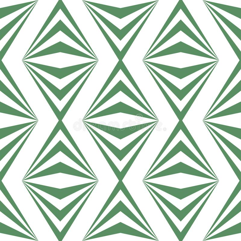 Modèle vert blanc léger géométrique abstrait d'art illustration stock