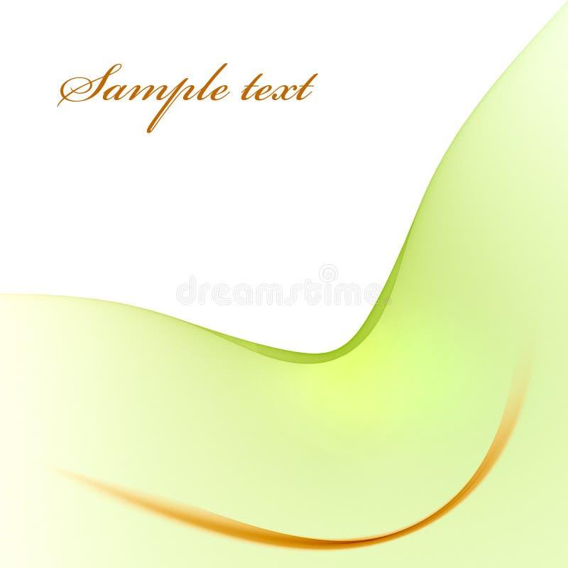 Modèle vert clair avec la ligne d'or illustration de vecteur