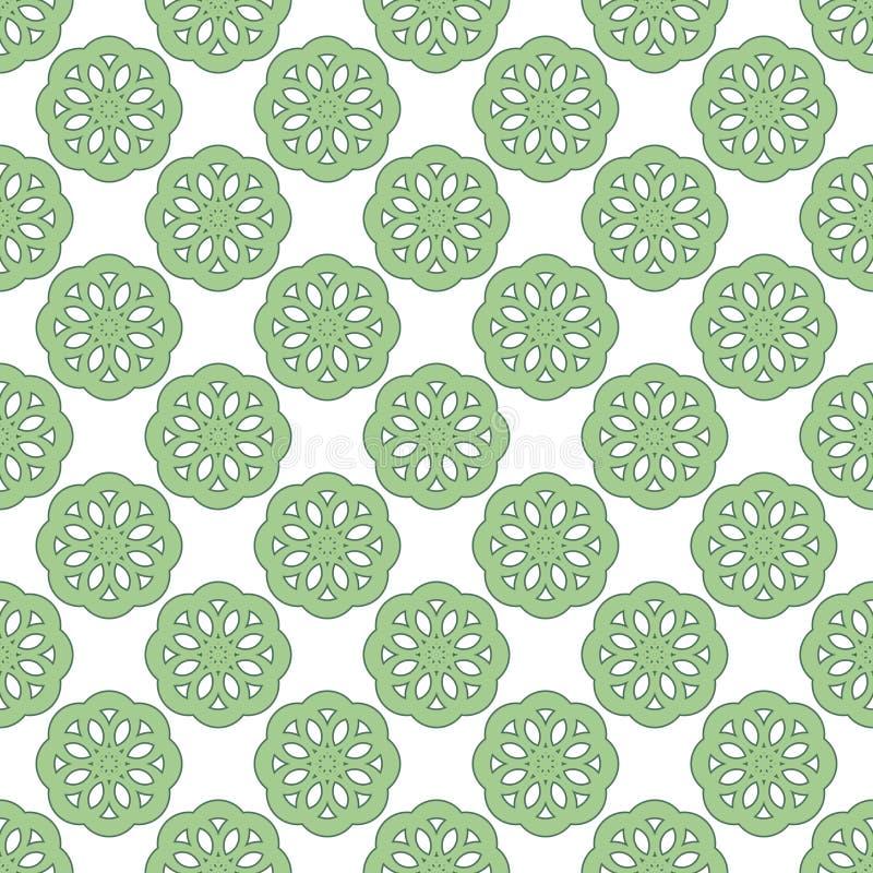 Modèle vert clair de vintage abstrait sans couture illustration de vecteur