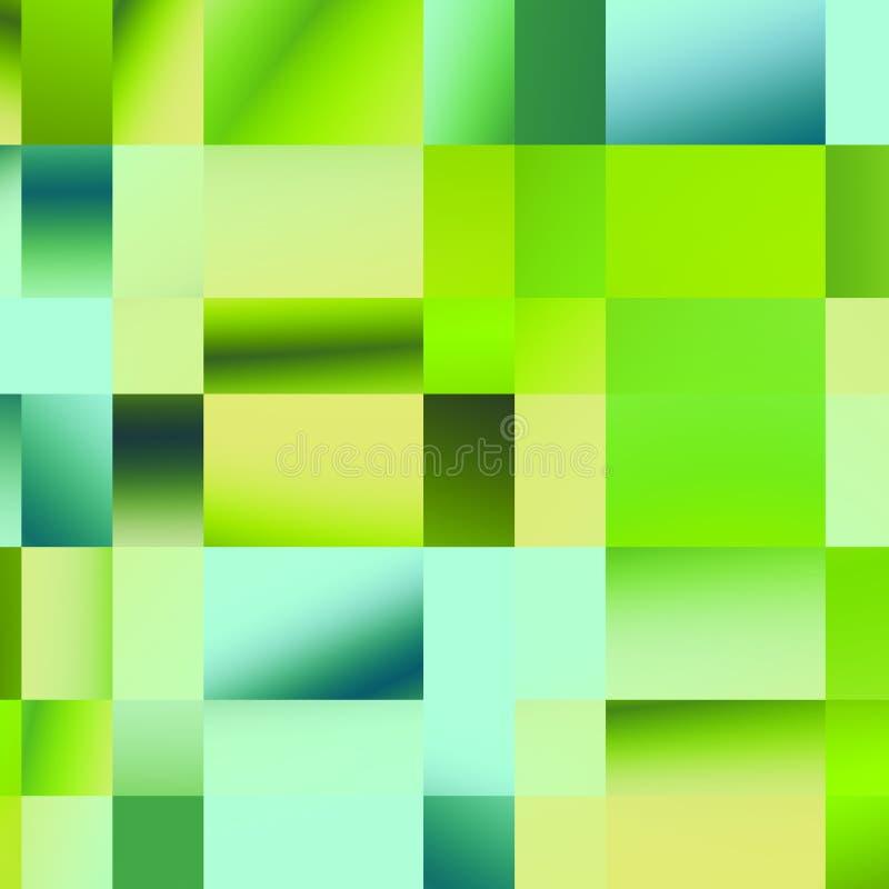 Modèle vert de plaid Géométrique abstrait Illustration colorée de mosaïque Éléments polygonaux de conception Différentes formes illustration libre de droits