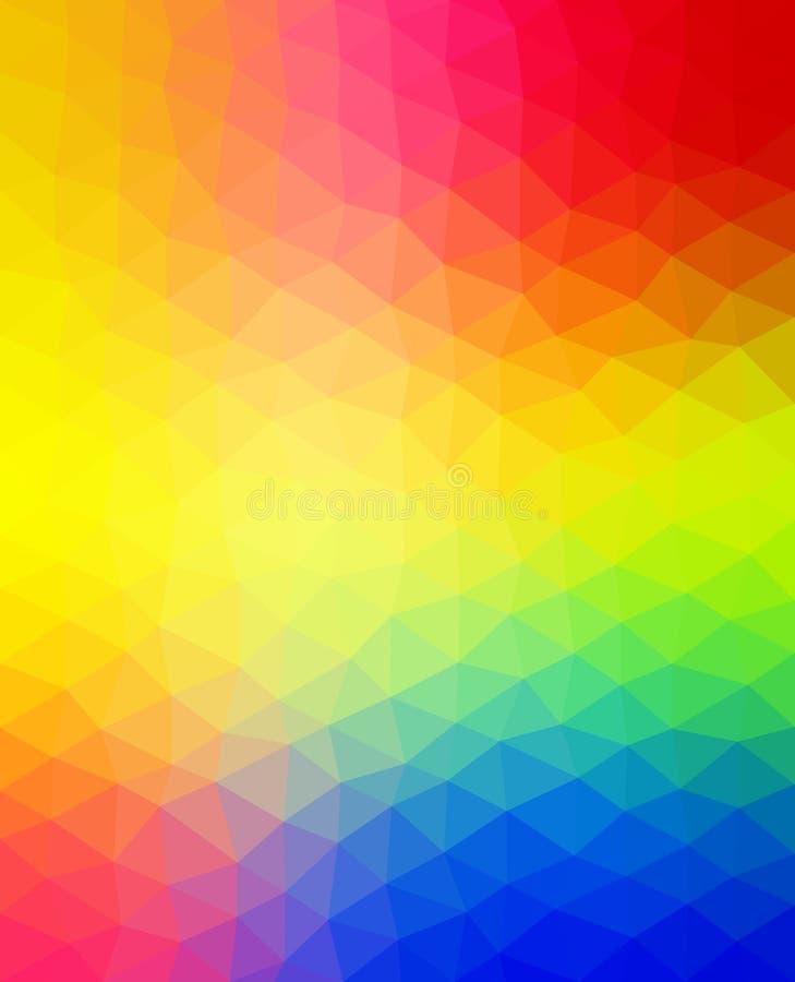 Modèle vibrant multicolore Fond triangulaire avec des formes de triangle illustration stock