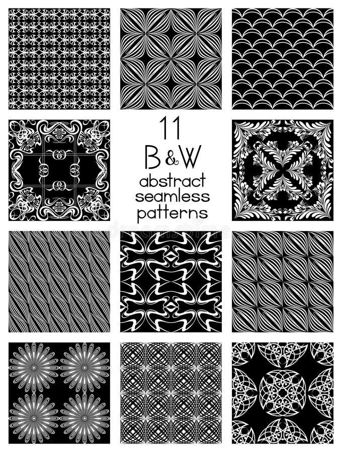 Modèles abstraits noirs et blancs illustration libre de droits