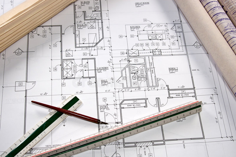 Modèles architecturaux photo stock