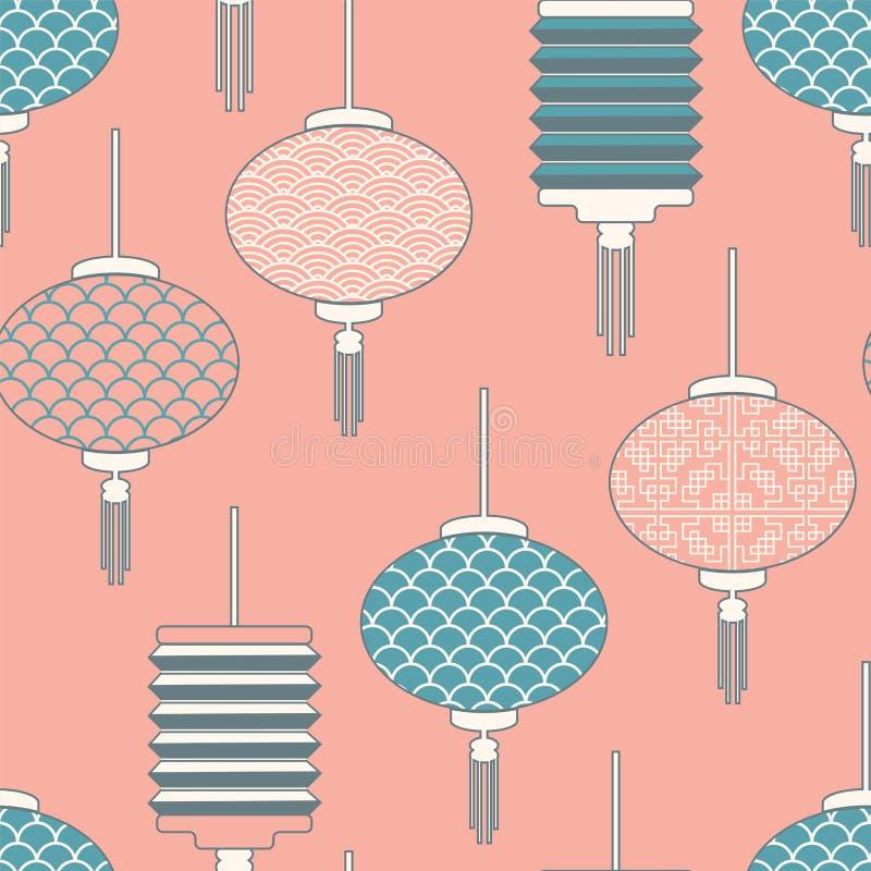 Modèles chinois de lanternes, conception pour des vacances chinoises, - fond Illustration de vecteur - Illustration de vecteur illustration de vecteur
