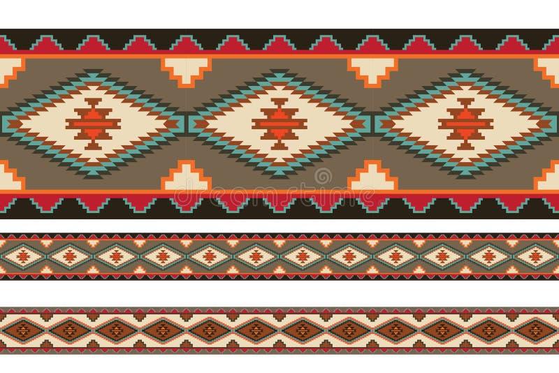Modèles couvrants tribals d'Indiens d'Amerique illustration stock