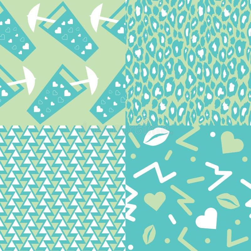 Modèles d'amour illustration stock