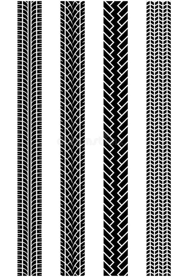 Modèles de bande de roulement de pneu images libres de droits