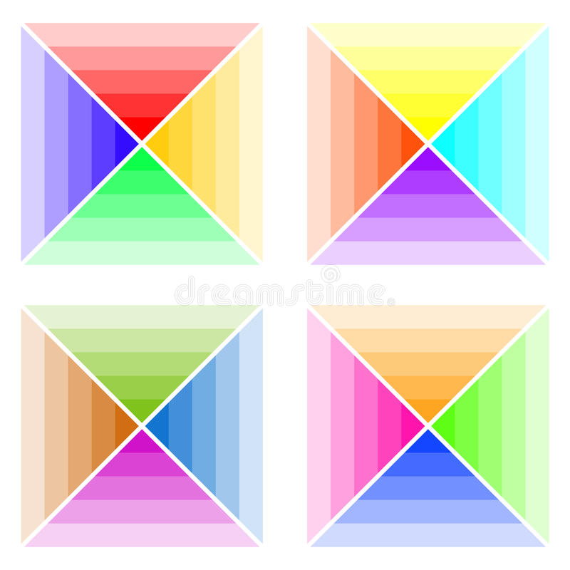 Modèles de couleurs, une palette de couleurs illustration de vecteur