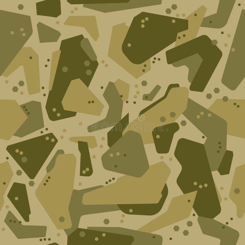 Modèles de formes de Digital avec des tons de vert de marais avec les points aléatoires illustration libre de droits