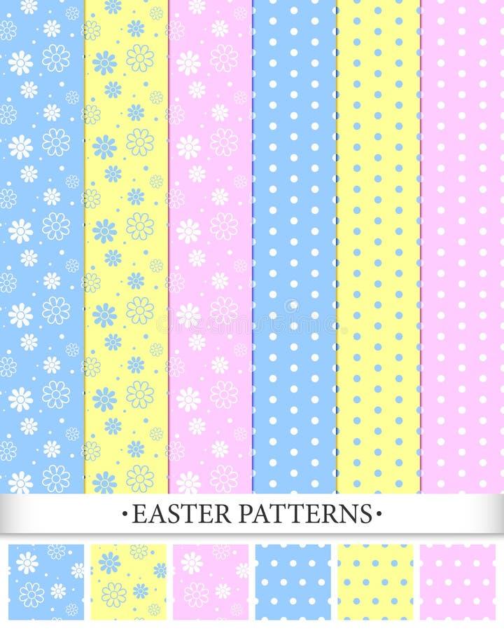 Modèles de Pâques illustration libre de droits