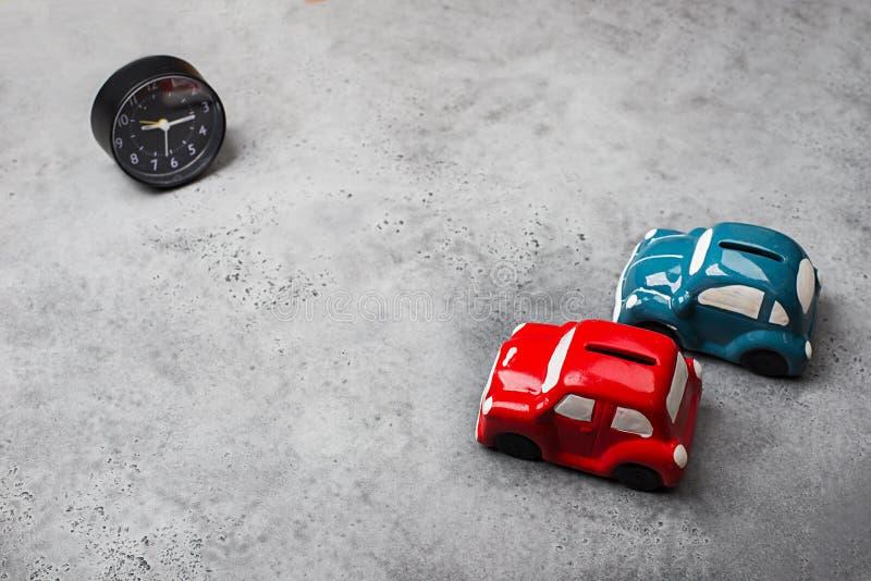 Modèles de rétros jouets de tirelire de voitures photo libre de droits