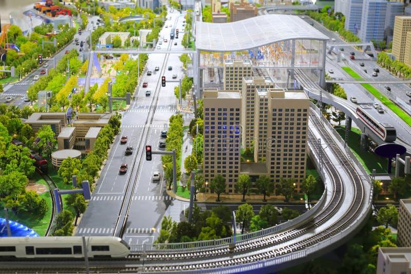 Modèles de système urbain de transport en commun photo stock