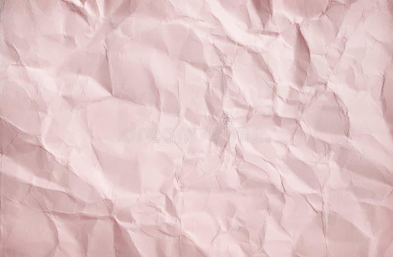 Modèles de vue supérieure abstraite de texture de papier brun clair de ride de blanc pour le fond images libres de droits
