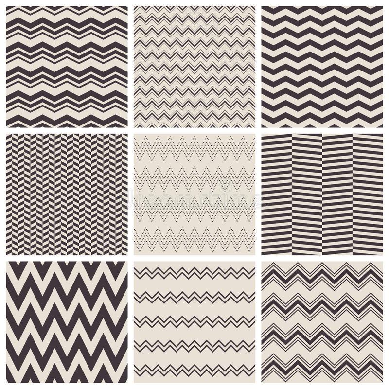 Modèles de zigzag sans couture illustration libre de droits
