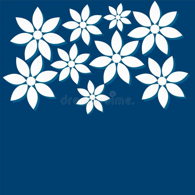 Modèles des fleurs hors du papier illustration libre de droits